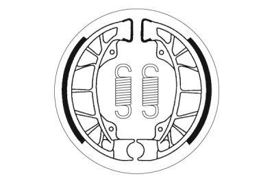 Mâchoire de frein Polini arrière Typhoon/Stalker/NRG/ZIP
