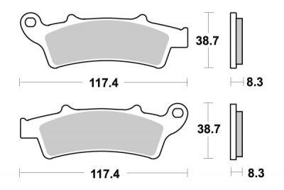 Plaquettes de frein Kymco arrière K-XCT 125 2012-15