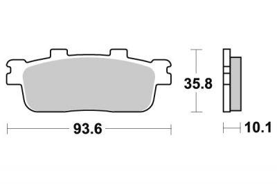 Plaquettes de frein avant C4 Gran Dink 250 Sym 125-250