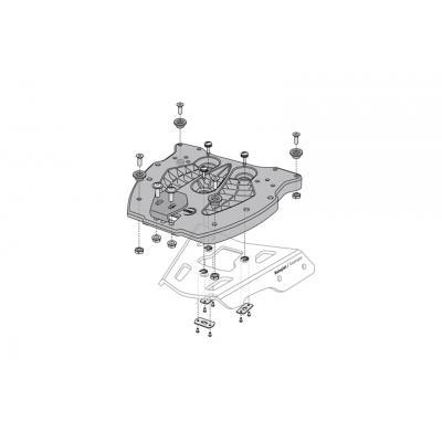 Support top case SW-MOTECH ALU-RACK gris BMW R 1150 / R