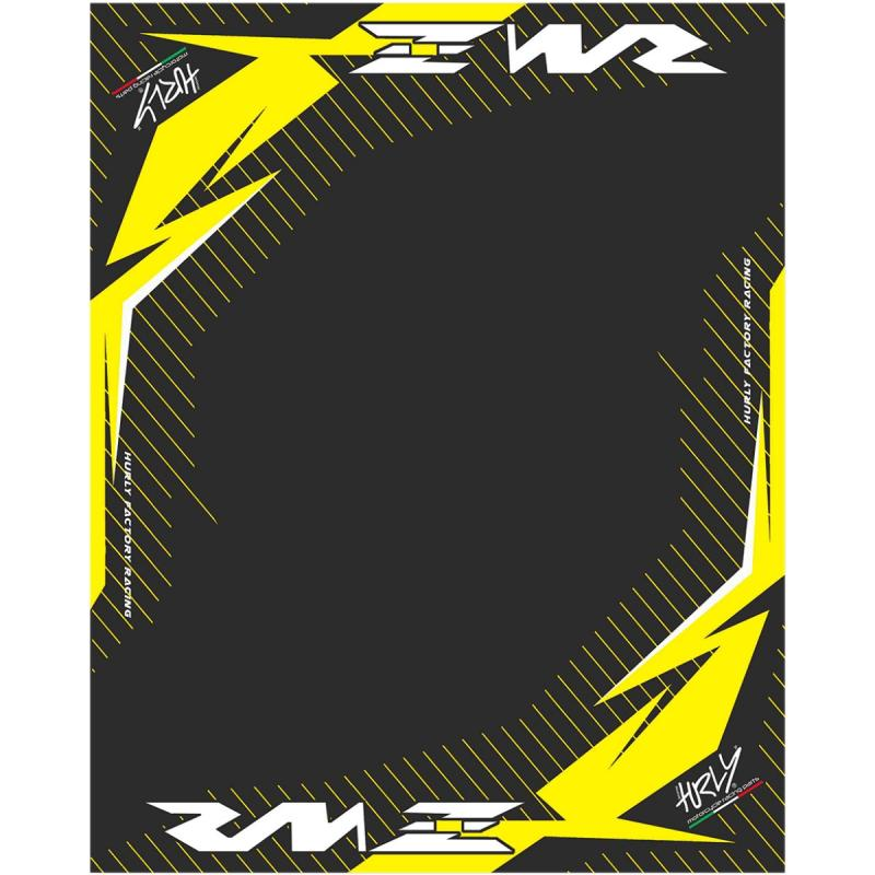 tapis environnemental hurly rmz 160cm x 200cm jaune noir