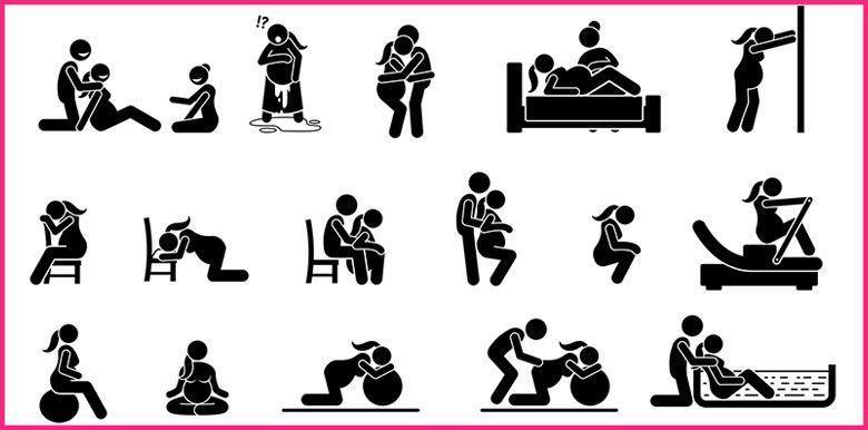 parturition accouchement physiologique positions multiples