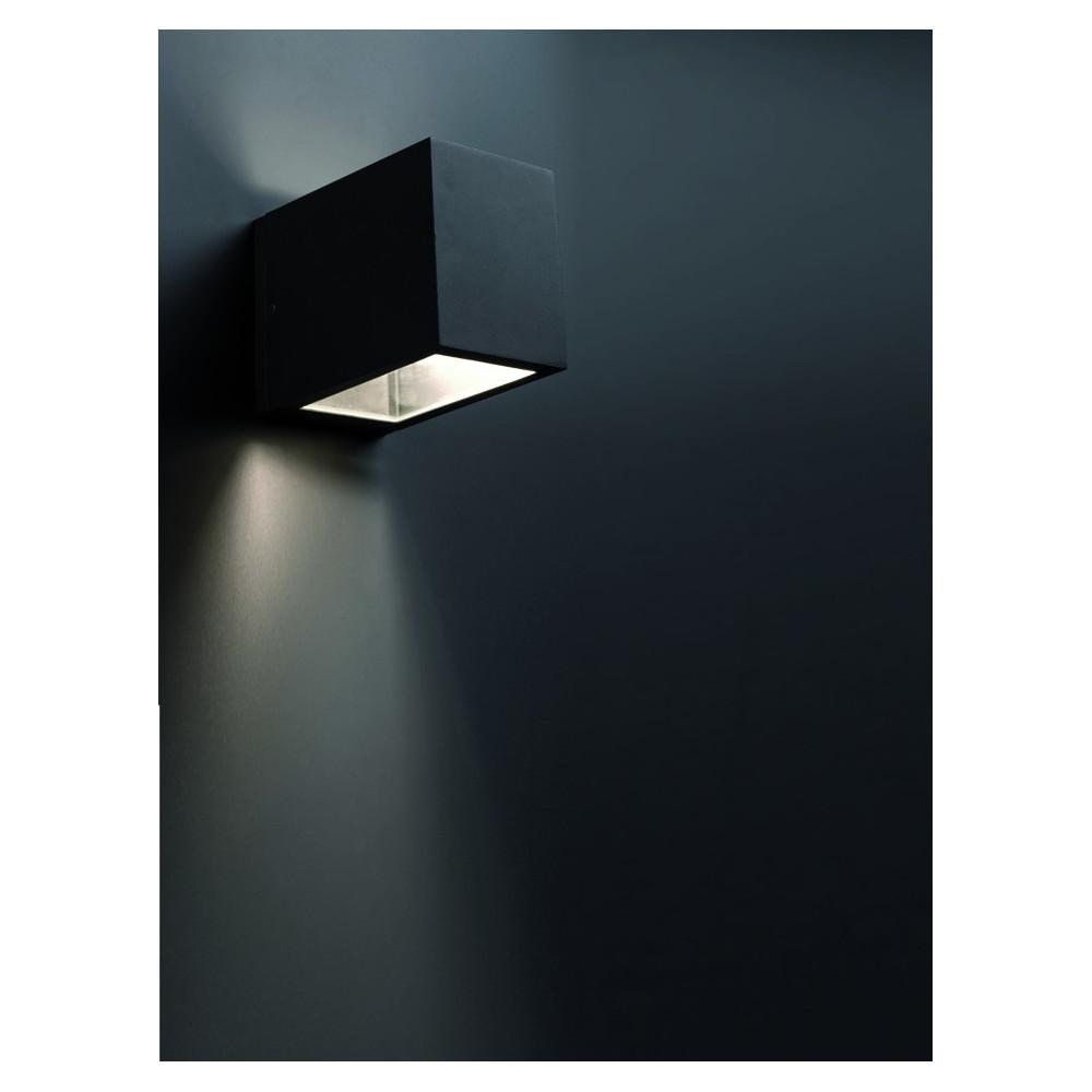 Applique exterieur cube noire  Luminaire Faro
