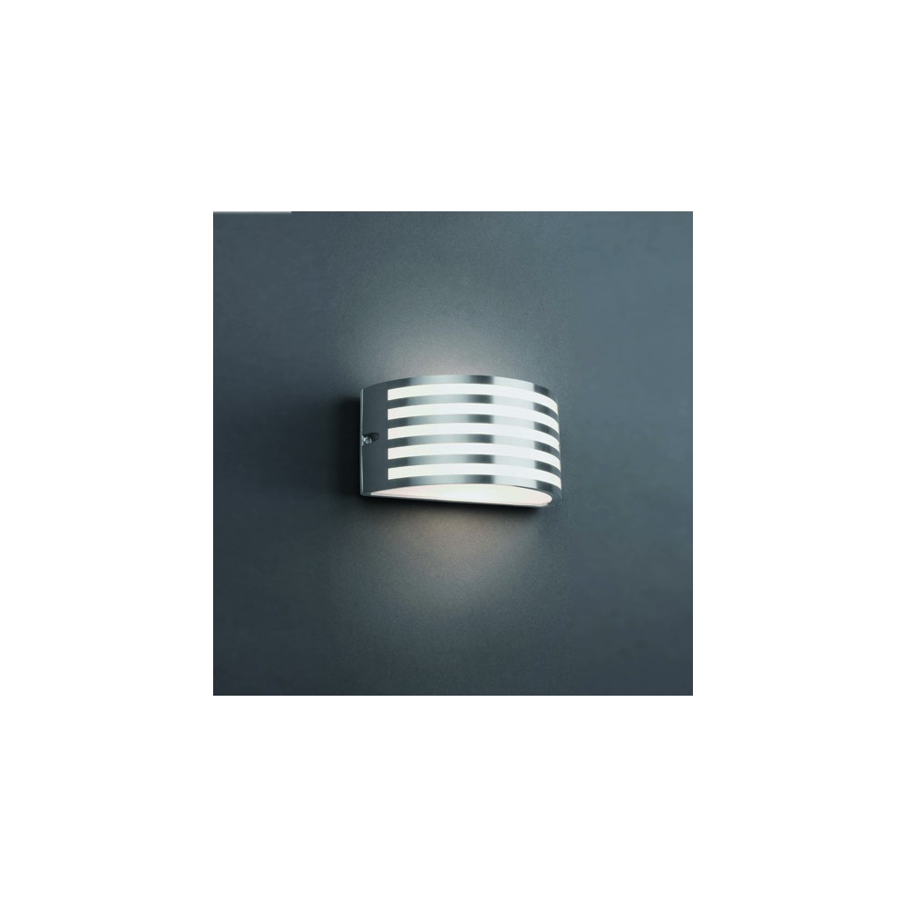 Applique extrieur design nickel mat ou noir  Luminaire jardin Faro