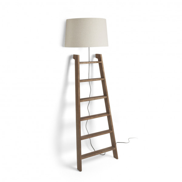 lampadaire echelle deco en bois