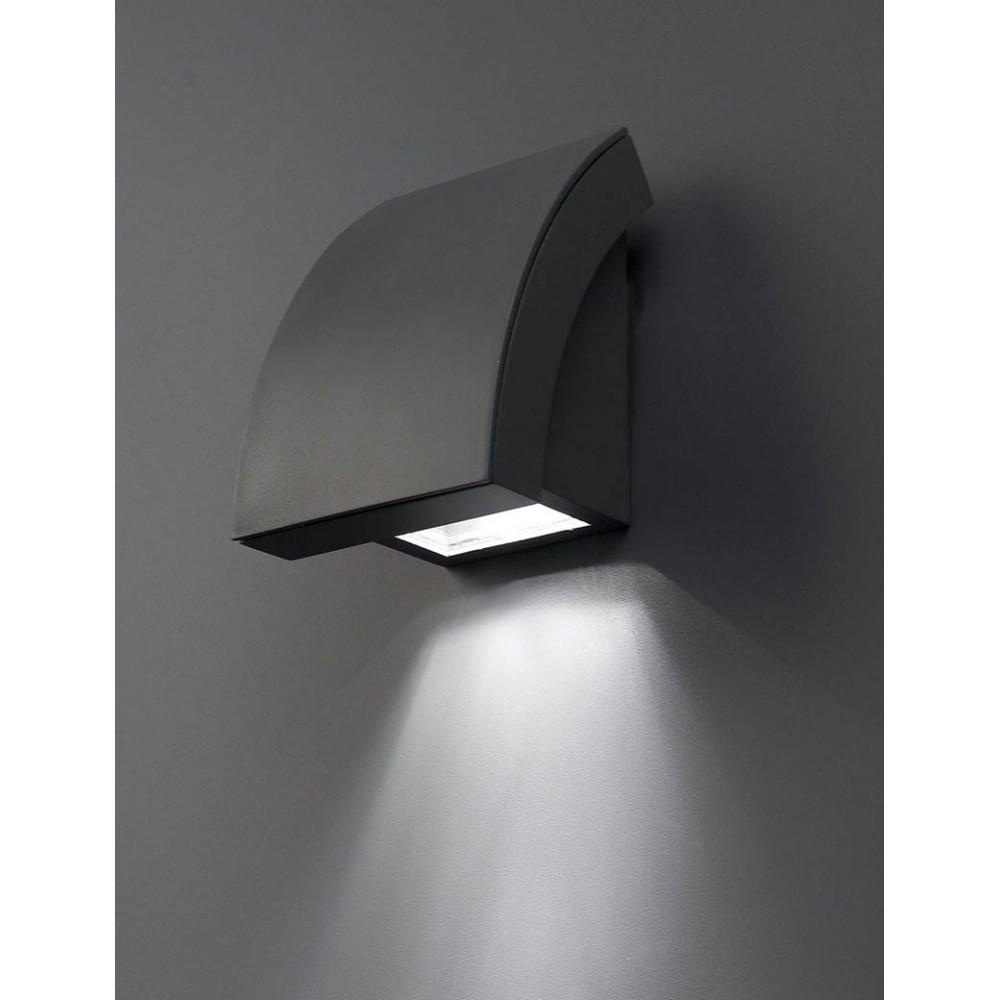 Applique Extrieure Design Moderne En Alu Gris Fonc