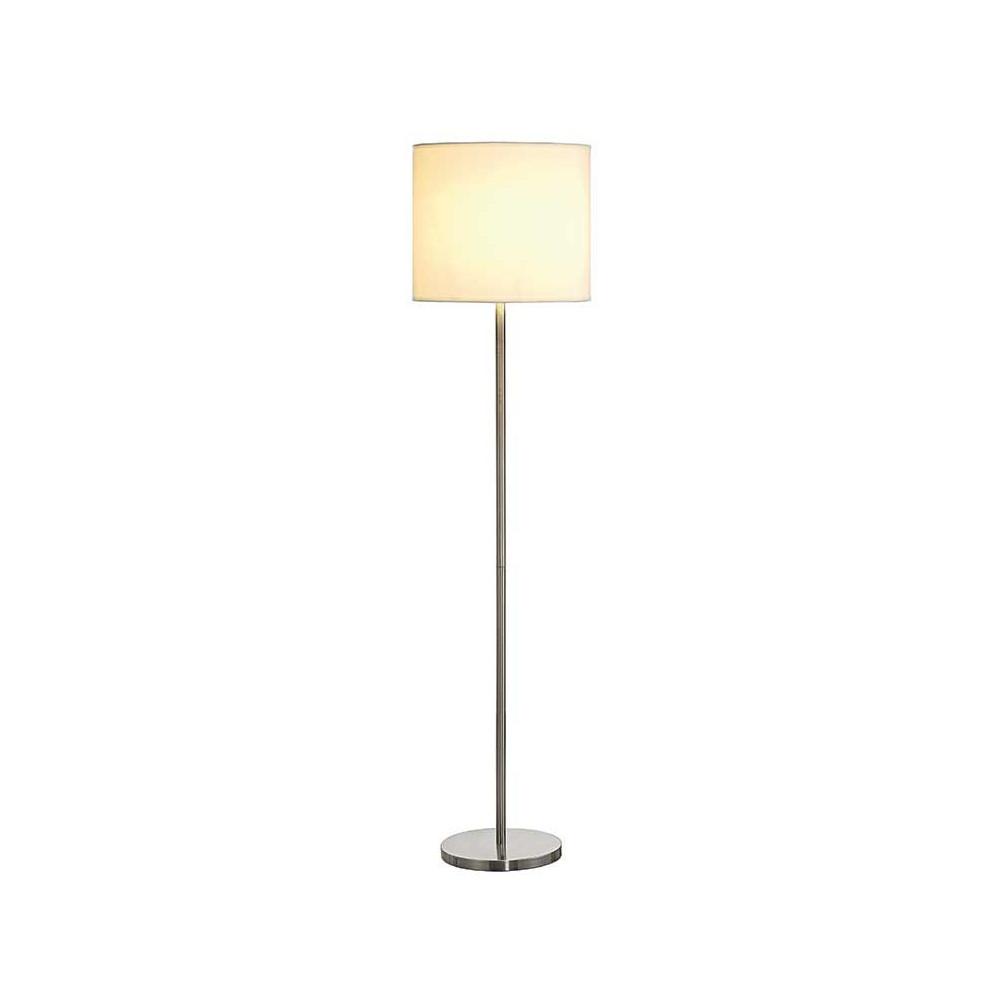 Lampe de salon mtal bross et abatjour blanc  Lampe Avenue