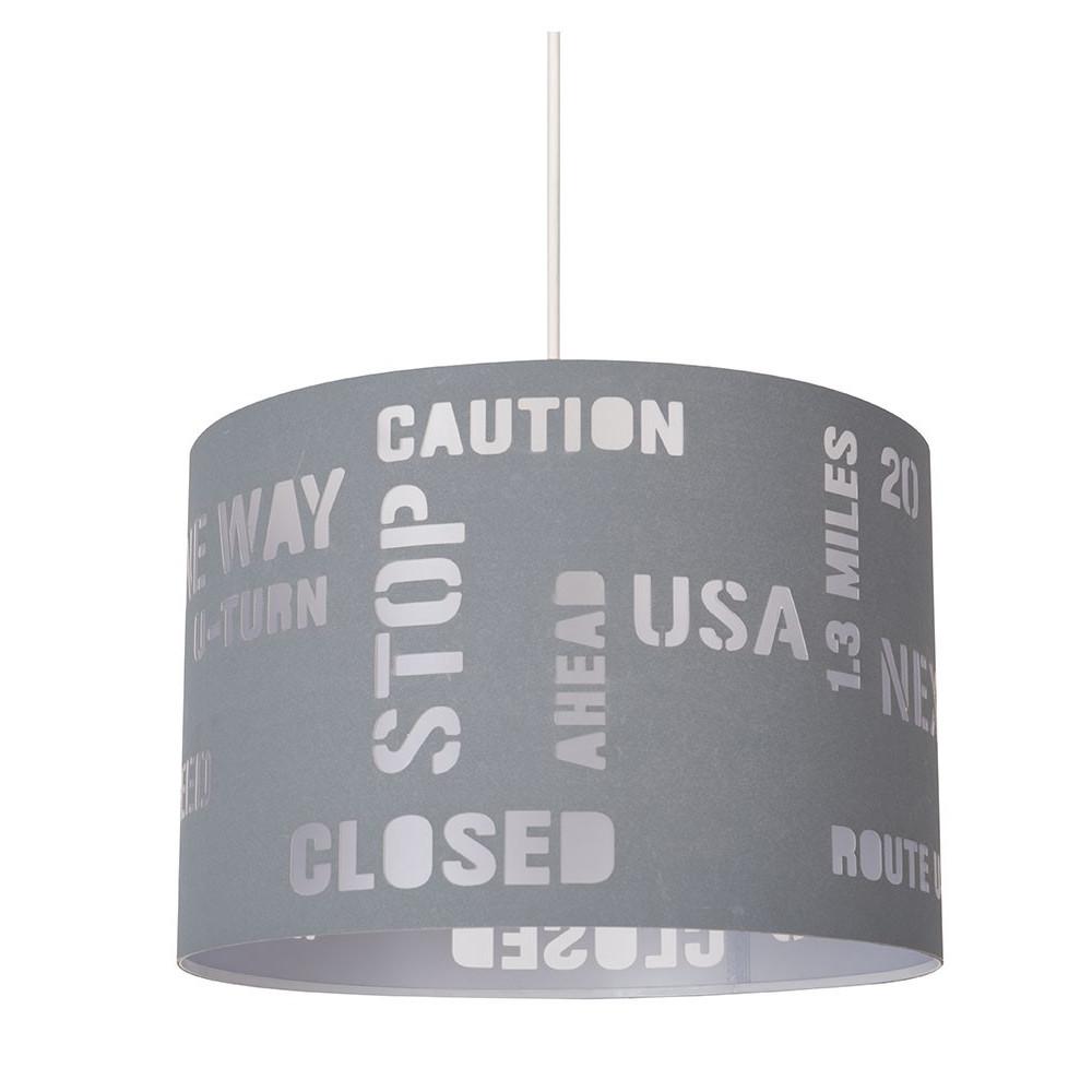 Suspension grise pour ado luminaire dco USA en vente sur LampeAvenue