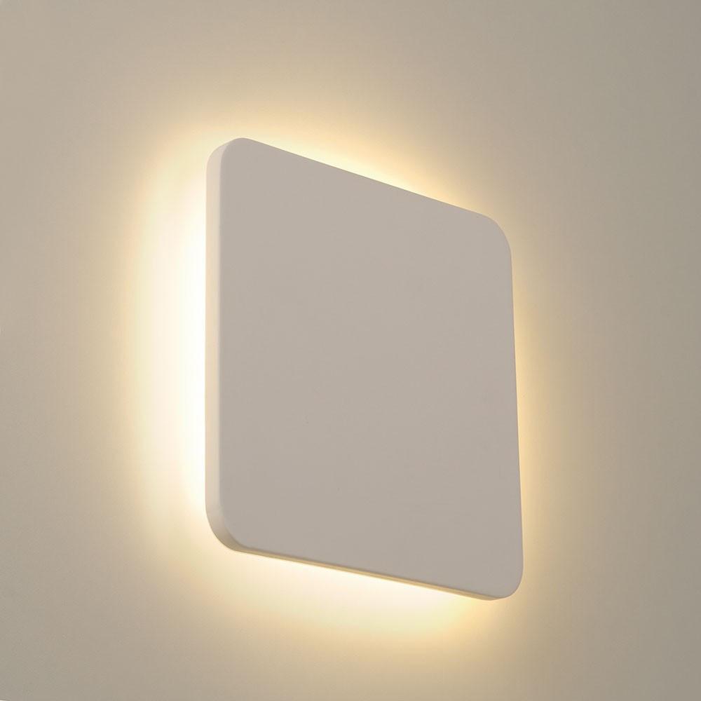 Une Applique Carr Blanche En Pltre LED A Retrouver Sur