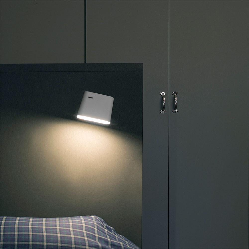 Applique de lit design blanche avec interrupteur  Lampe Avenue