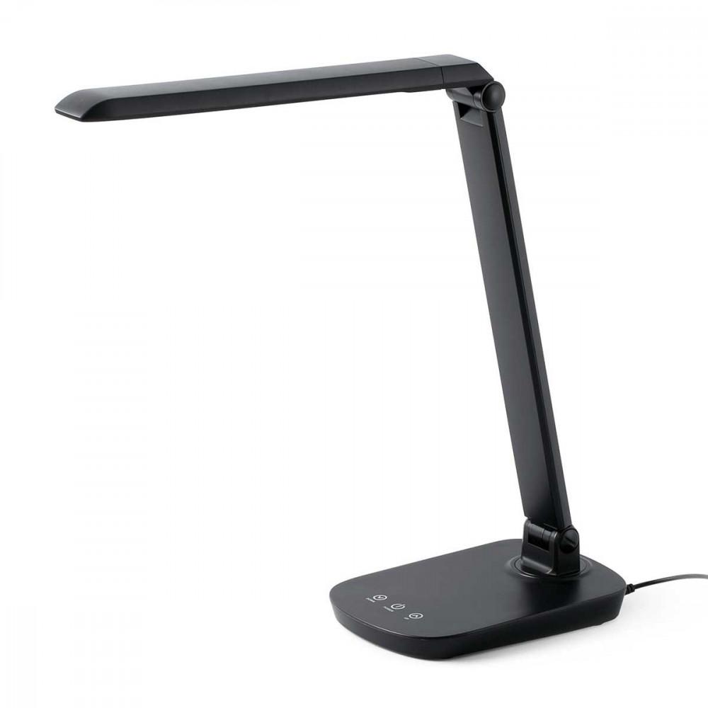 Lampe bureau noire LED tactile avec variateur de lumire