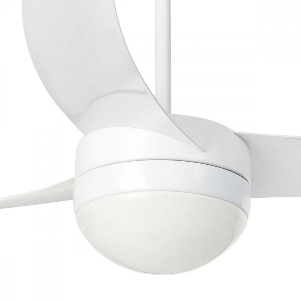 ventilateur luminaire moderne blanc