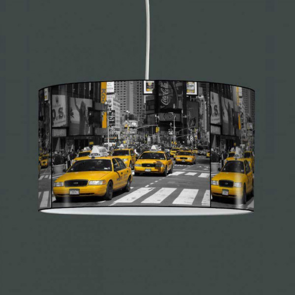 Lampe suspension taxi jaune New York