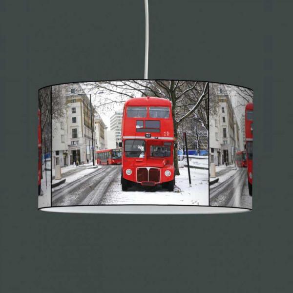 Lampe suspension bus rouge Londres