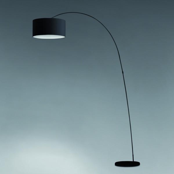 lampadaire arc abat jour noir
