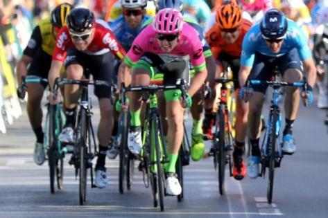 Cyclisme sur route - Tour d'Andalousie              2018 - Sacha Modolo a remporté la troisième étape du Tour d'Andalousie.  (E.Garnier/L'Equipe)