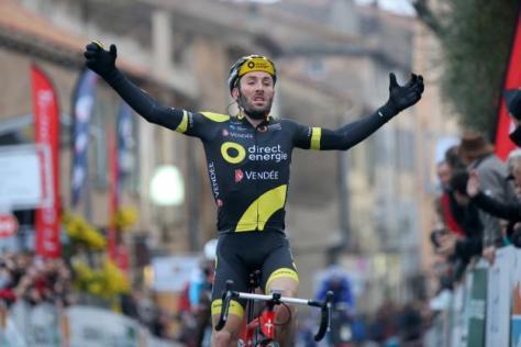 Cyclisme sur route - Tour du Haut-Var - Jonathan Hivert vainqieur en solitaire sur la première étape du Tour du Haut-Var. (E.Garnier/L'Equipe)