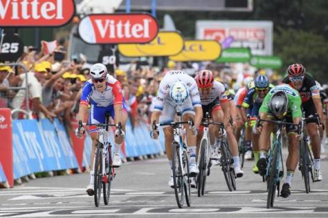 Cyclisme sur route - Tour de France - Arnaud Démare a terminé troisième à Valence. (S.Mantey L'Equipe)