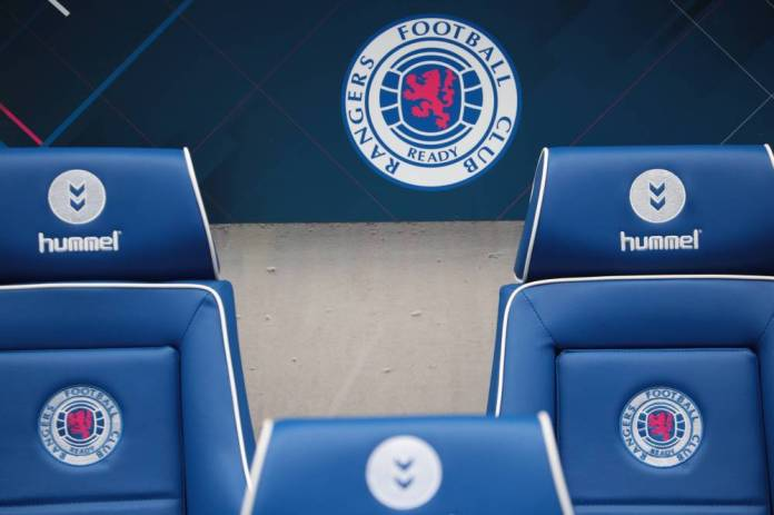 In the stands of Ibrox Stadium ... (Frédéric Mons / The Team)