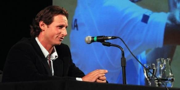 David Nalbandian a annoncé sa retraite, mardi devant la presse à Buenos Aires. (AFP)
