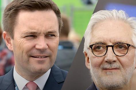 Cyclisme sur route - Fabien Mulot - David Lappartient (gauche) espère détrôner Brian Cookson et s'emparer de la présidence de l'UCI.