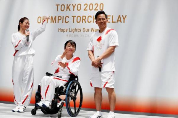 """Résultat de recherche d'images pour """"relai flamme olympique japon 2020"""""""