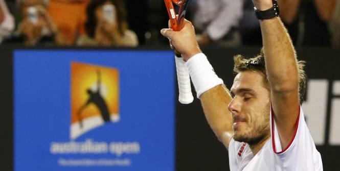 Stanislas Wawrinka peut lever les bras : il va soulever pour la première fois le trophée d'un Grand Chelem. (Reuters)