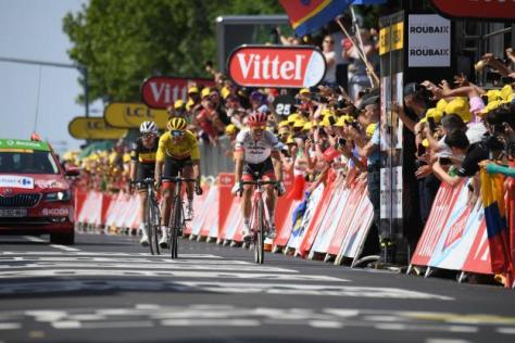 Cyclisme sur route - Cyclisme sur route - Van Avermaet a dû se contenter de la deuxième place. (Mantey/L'Equipe)