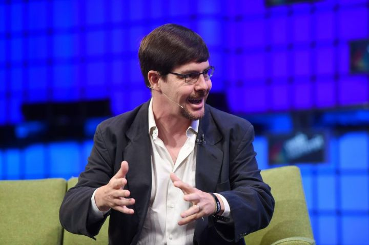 6 November 2014; Gavin Andresen, Chief Scientist, Bitcoin Foundation, on the centre stage during Day 3 of the 2014 Web Summit in the RDS, Dublin, Ireland. Picture credit: Stephen McCarthy / SPORTSFILE / Web Summit (Photo by Sportsfile/Corbis via Getty Images)