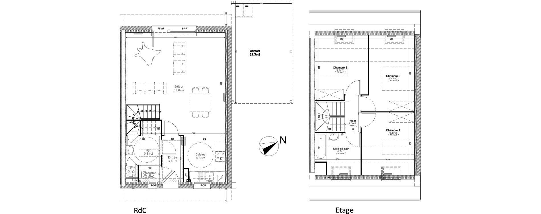 Maison T4 De 83 50m2 1er Etage O Ecrin De Ville Maisons Valenciennes Ref 437