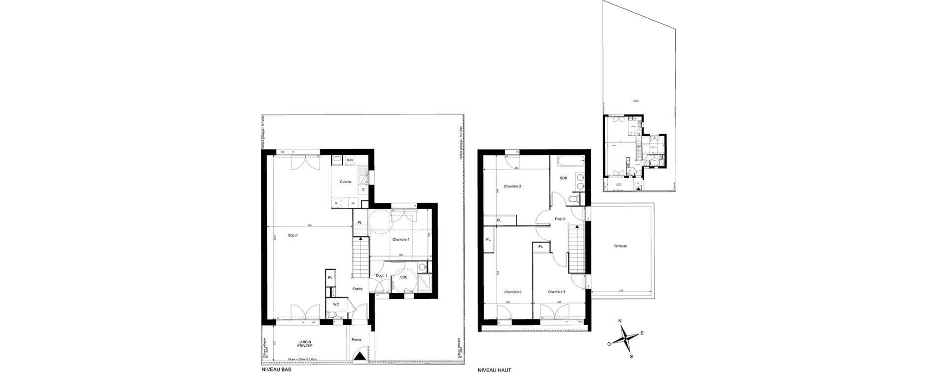 Maison T5 de 139.14m2 1er étage S Dialogue La Rochelle ref 363