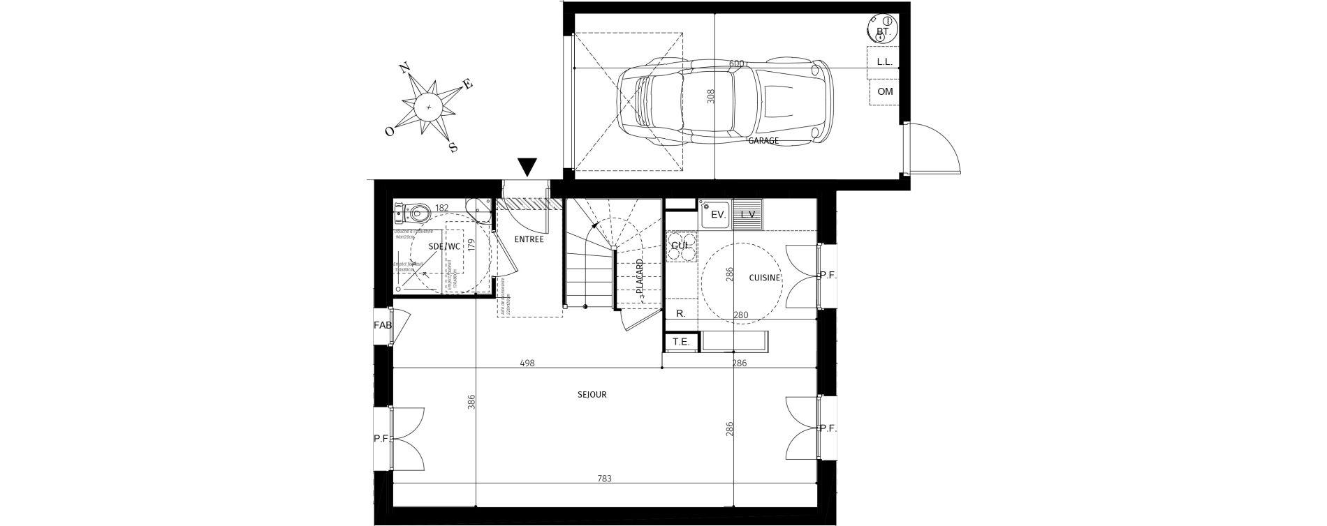 Maison T4 de 82.15 m2 1er étage SE Côté Mer Saint-Georges