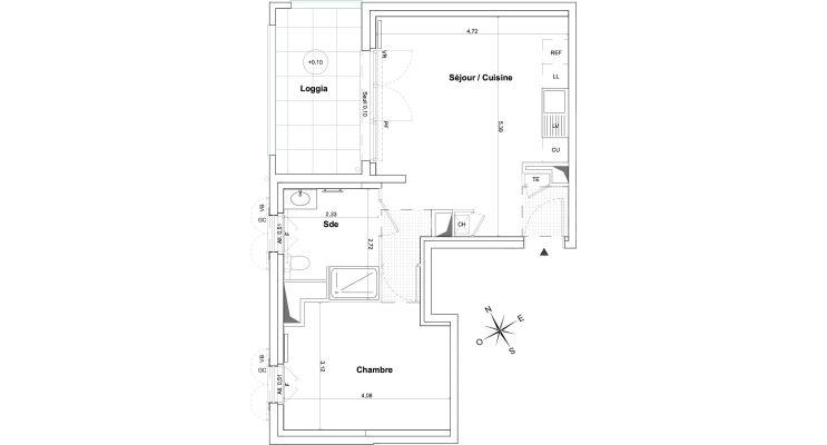 Appartement T2 de 43.23 m2 1er étage NO Authentic Domaine
