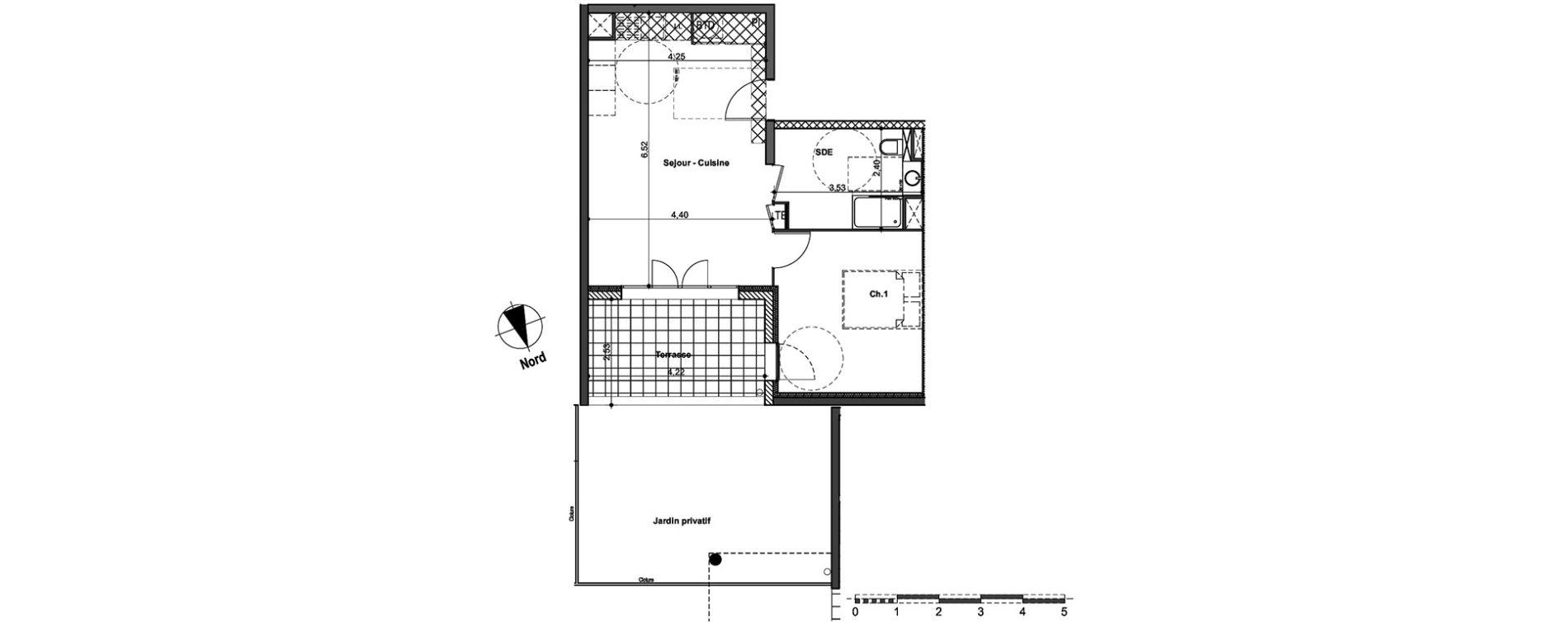 Appartement T2 de 48.75m2 RDC N Ekinox Aix-en-Provence ref 920