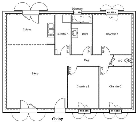 Cheap Modele Maison Choisy Construire Topic With Plan Maison Carre Plein  Pied With Plan Maison Carre
