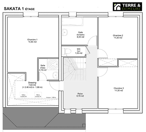 Maison M Etage Awesome Plan Maison M Chambres Etage With Maison