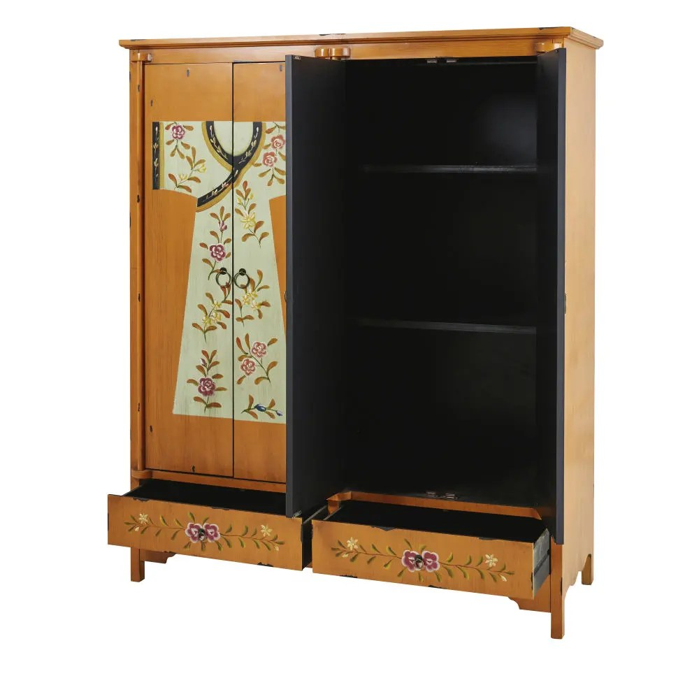 Armario estampado de madera An 150 cm Kimono  Maisons du