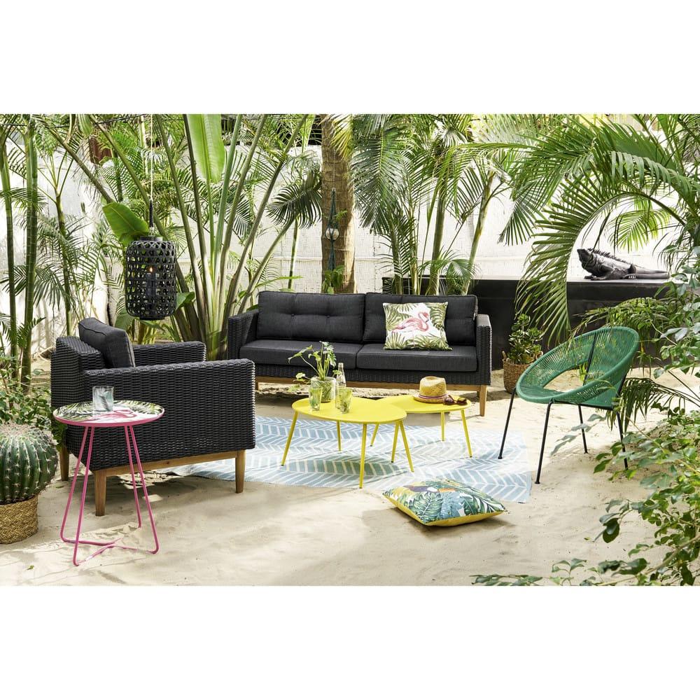 Dco de jardin iguane en rsine noire L39 Luiz  Maisons du Monde