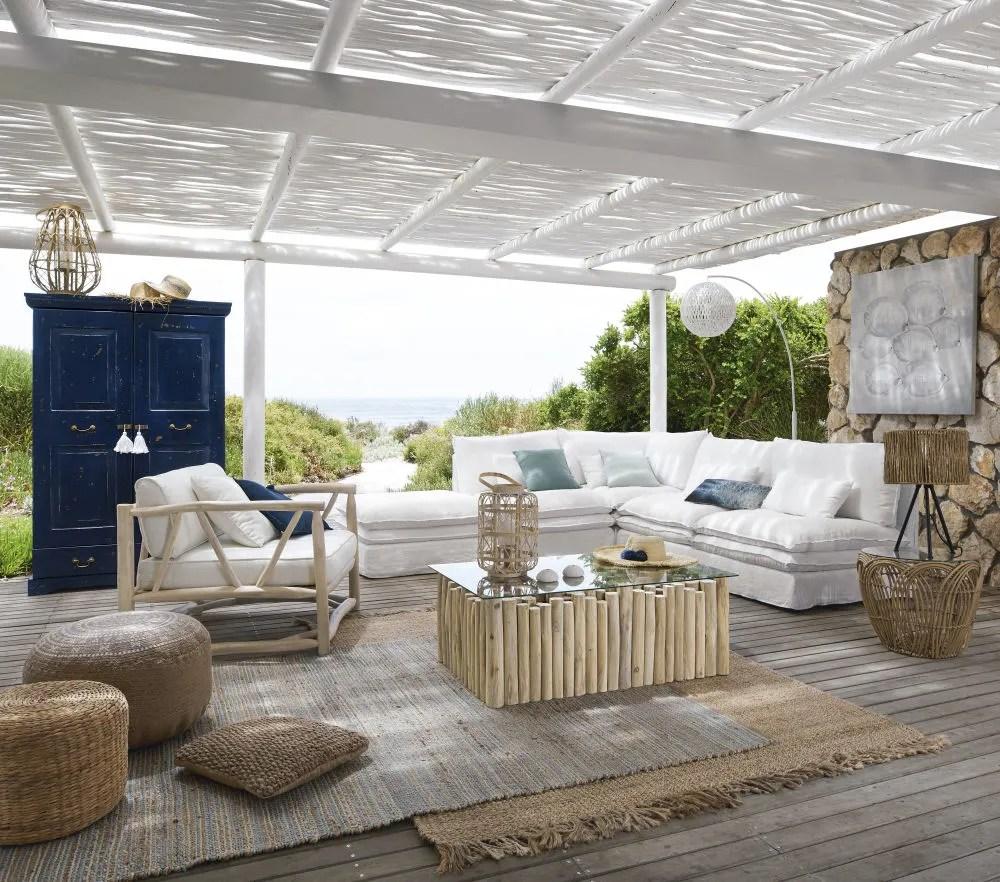 chauffeuse de canape en lin blanc maisons du monde
