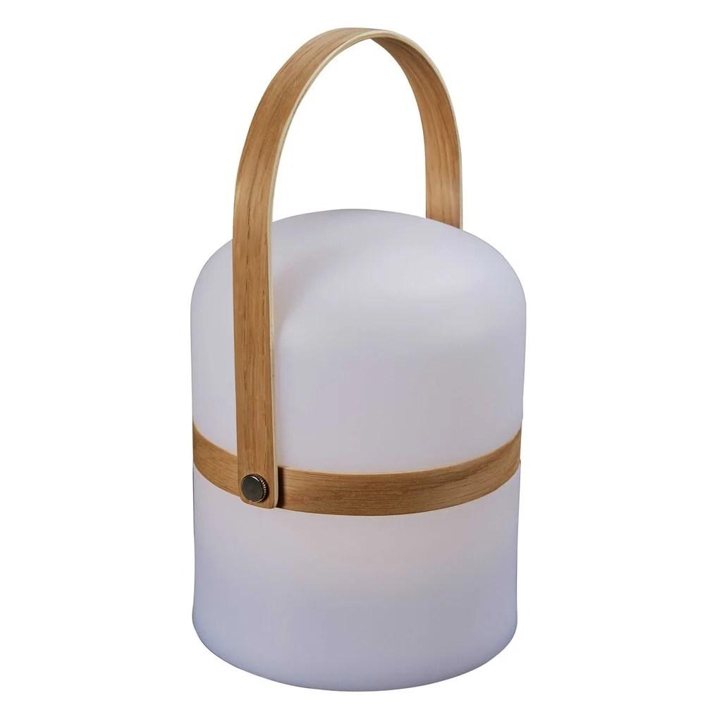 Lampe de jardin blanche H26cm Moonshine  Maisons du Monde