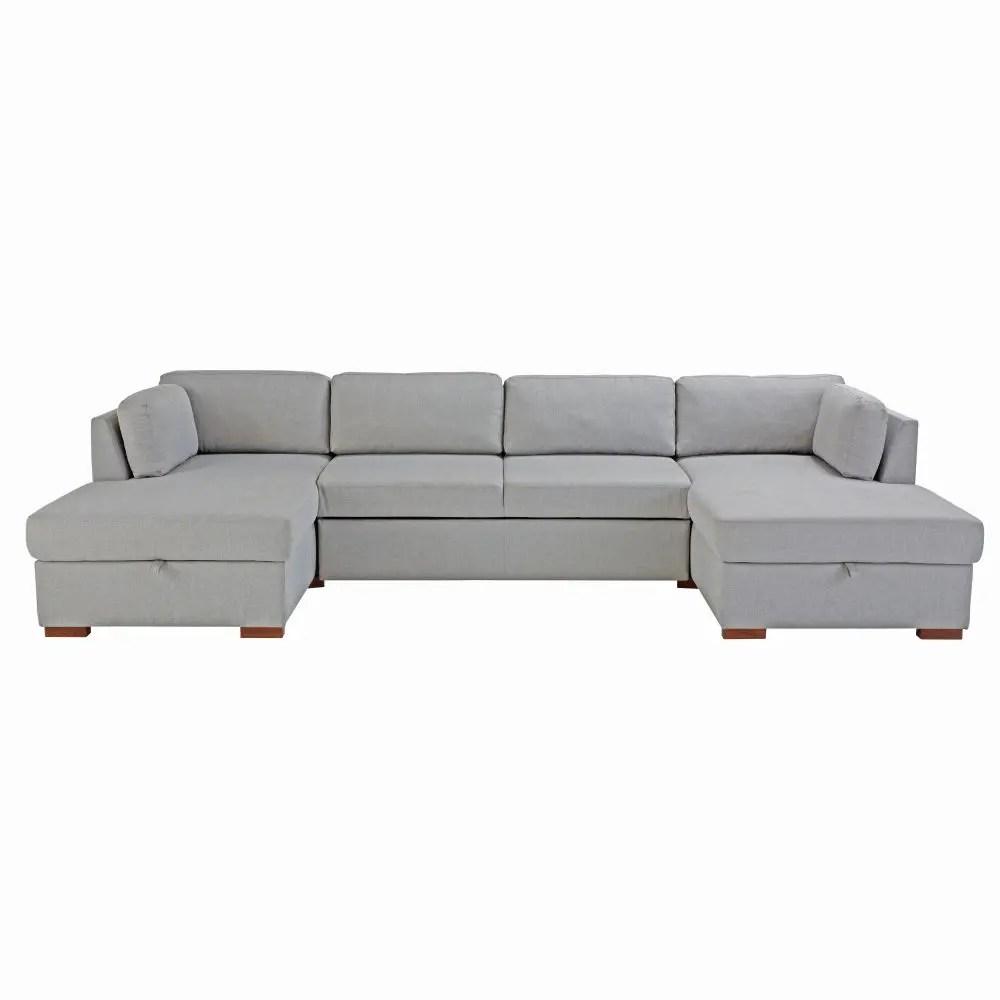 square sofa beds kroehler covers light grey 7 seater u shaped bed times maisons du monde