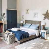 Lit 160x200 en mahogany massif Hampton   Maisons du Monde