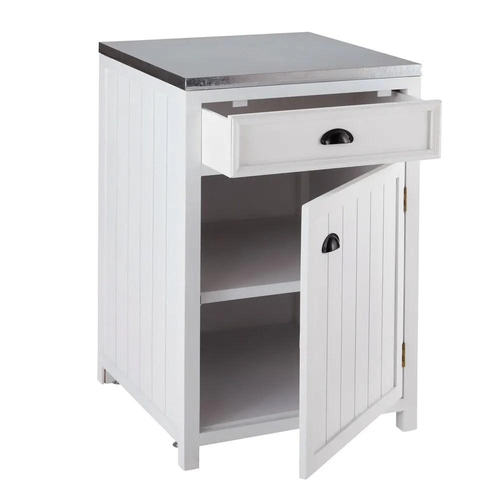 Mobile basso bianco da cucina in legno con apertura a sinistra 60 cm Newport  Maisons du Monde