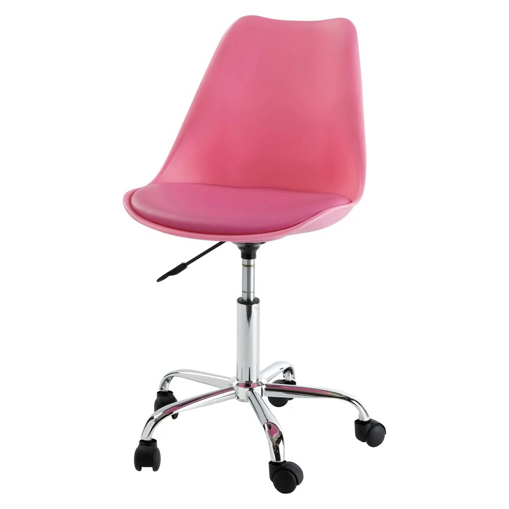 Pink Office Chairs Pink Office Chair On Casters