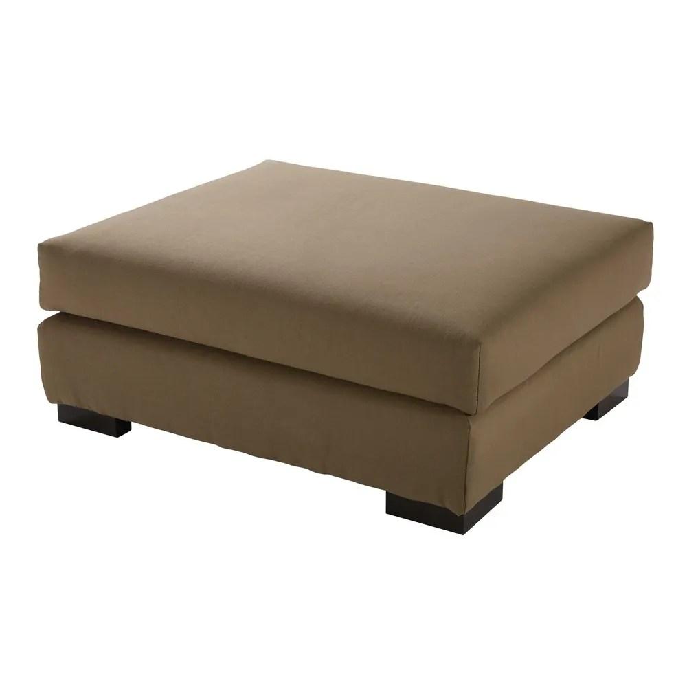 Pouf per divano color talpa modulabile in cotone Terence