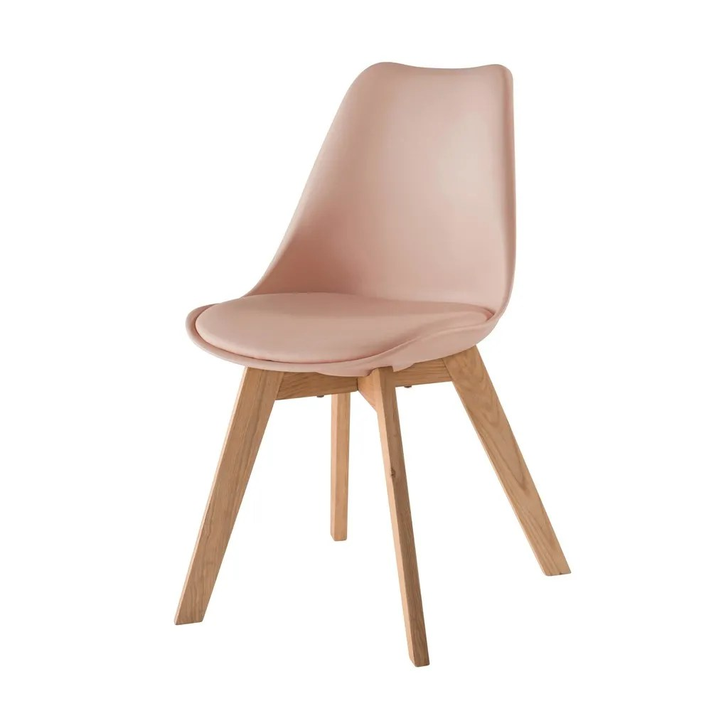 Scandinavian Chairs Powdery Pink Scandinavian Style Chair With Solid Oak
