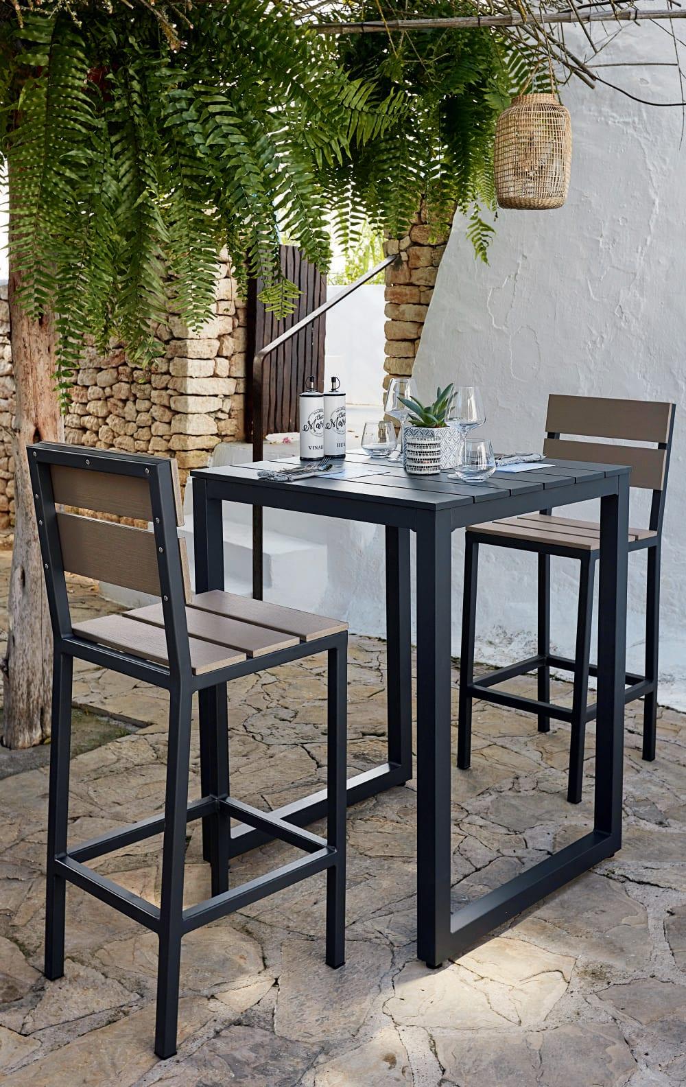Table haute de jardin professionnelle en aluminium L75 Regate Pro  Maisons du Monde