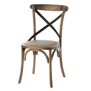 chaise bistrot en rotin et chene maisons du monde