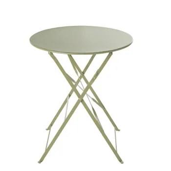 table de jardin ronde pliante en metal