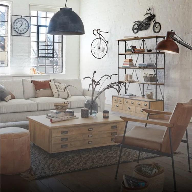 13 idee per decorare le pareti in modo creativo con maisons du monde. Salotto Mobili E Complementi D Arredo Maisons Du Monde
